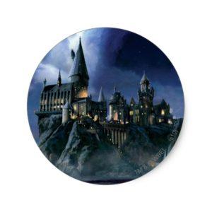 Harry Potter Castle | Moonlit Hogwarts Classic Round Sticker