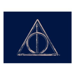 Harry Potter | Deathly Hallows Watercolor Postcard