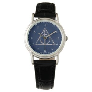 Harry Potter   Deathly Hallows Watercolor Watch