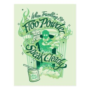 Harry Potter | Floo Powder Typography Graphic Postcard