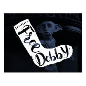 "Harry Potter   ""Free Dobby"" Sock Typography Postcard"