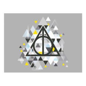 Harry Potter   Geometric Deathly Hallows Symbol Postcard