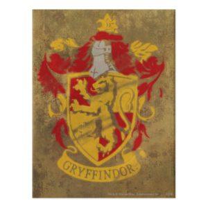 Harry Potter   Gryffindor - Retro House Crest Postcard