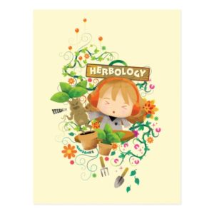 Harry Potter | Hermione Herbology Class Graphic Postcard