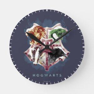 Harry Potter   HOGWARTS™ Crest Watercolor Round Clock