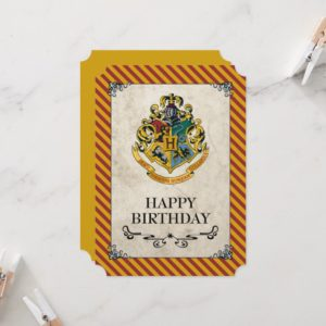 Harry Potter | Hogwarts Happy Birthday Card