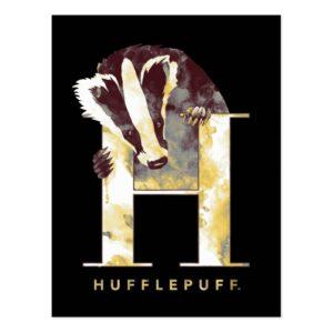 Harry Potter | HUFFLEPUFF™ Badger Watercolor Postcard