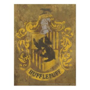 Harry Potter | Hufflepuff Crest Spray Paint Postcard