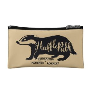 Harry Potter | HUFFLEPUFF™ Silhouette Typography Cosmetic Bag