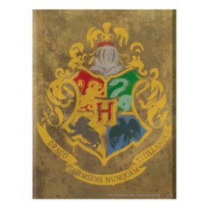 Harry Potter   Rustic Hogwarts Crest Postcard