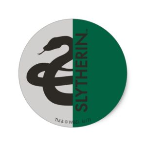 Harry Potter | Slytherin House Pride Graphic Classic Round Sticker