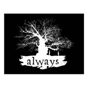 Harry Potter Spell | Always Quote Silhouette Postcard