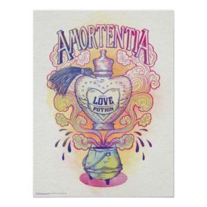 Harry Potter Spell   Amortentia Love Potion Bottle Poster