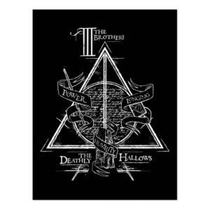 Harry Potter Spell   DEATHLY HALLOWS Graphic Postcard