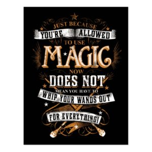 Harry Potter Spell | Just Because You're Allowed Postcard