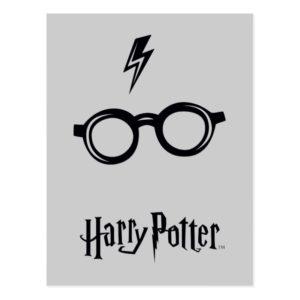 Harry Potter Spell   Lightning Scar and Glasses Postcard