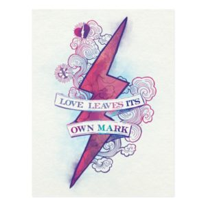 Harry Potter Spell | Love Leaves Its Own Mark Postcard