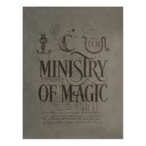 Harry Potter Spell | MINISTRY OF MAGIC Postcard