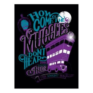 Harry Potter | The Knight Bus Typography Graphic Postcard