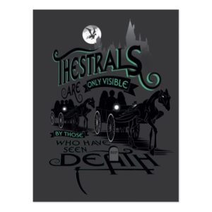 Harry Potter | Thestrals Typography Graphic Postcard