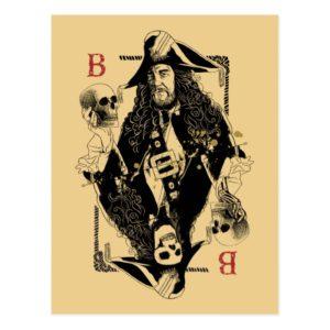 Hector Barbossa - Ruler Of The Seas Postcard