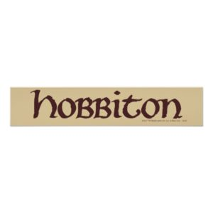 HOBBITON™ Solid Poster