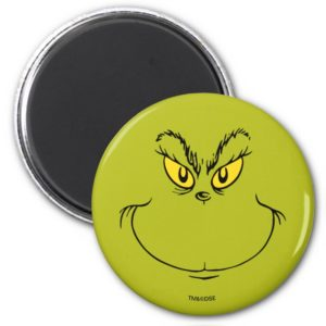 How the Grinch Stole Christmas Face Magnet