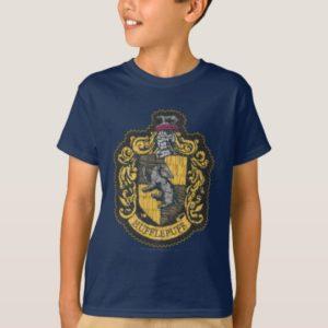 Harry Potter   Hufflepuff Crest Patch T-Shirt
