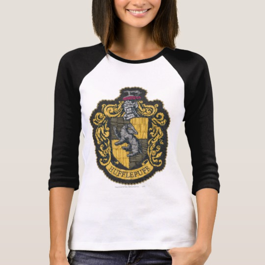7d3267e59 Harry Potter | Hufflepuff Crest Patch T-Shirt - Custom Fan Art