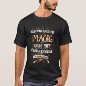 Harry Potter Spell | Just Because You're Allowed T-Shirt