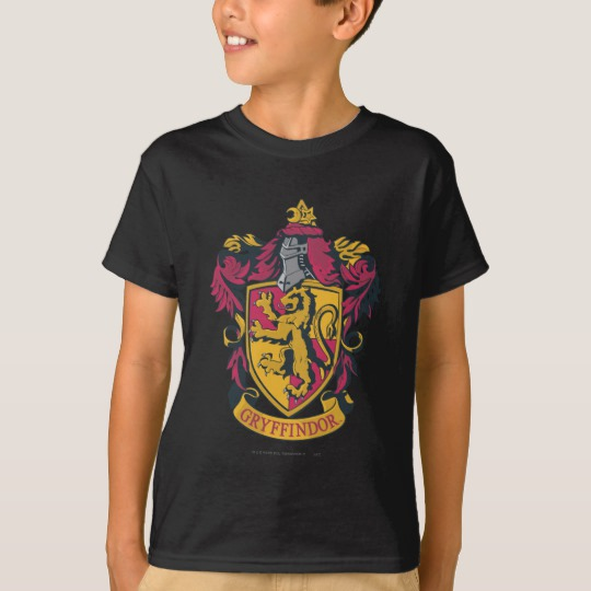 8e397bf4 Harry Potter | Gryffindor Crest Gold and Red T-Shirt - Custom Fan Art