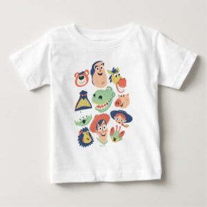 Vintage Painted Toy Story Characters Baby T-Shirt