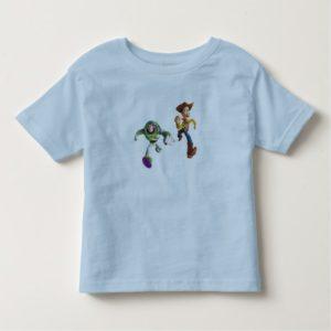 Toy Story Buzz Lightyear Woody running Toddler T-shirt