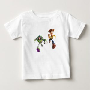 Toy Story Buzz Lightyear Woody running Baby T-Shirt