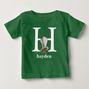 Dr. Seuss's ABC: Letter H - White | Add Your Name Baby T-Shirt