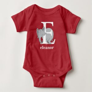 Dr. Seuss's ABC: Letter E - White | Add Your Name Baby Bodysuit