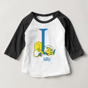 Dr. Seuss's ABC: Letter L - Blue | Add Your Name Baby T-Shirt