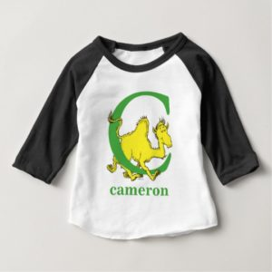 Dr. Seuss's ABC: Letter C - Green | Add Your Name Baby T-Shirt
