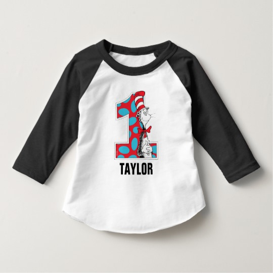 738d4fdc Dr. Seuss | The Cat in the Hat 1st Birthday T-Shirt - Custom Fan Art