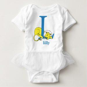 Dr. Seuss's ABC: Letter L - Blue | Add Your Name Baby Bodysuit