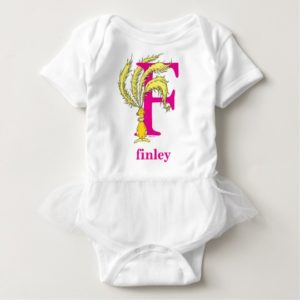 Dr. Seuss's ABC: Letter F - Pink | Add Your Name Baby Bodysuit