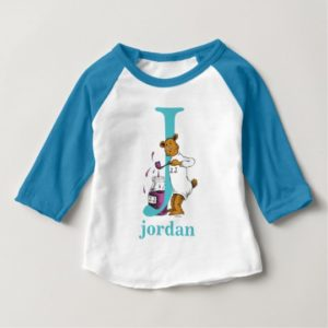 Dr. Seuss's ABC: Letter J - Teal | Add Your Name Baby T-Shirt