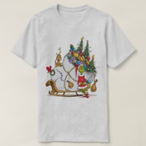 Classic Grinch | The Grinch & Max with Sleigh T-Shirt
