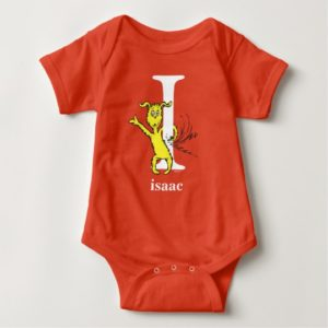 Dr. Seuss's ABC: Letter I - White | Add Your Name Baby Bodysuit