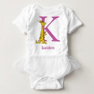 Dr. Seuss's ABC: Letter K - Purple | Add Your Name Baby Bodysuit