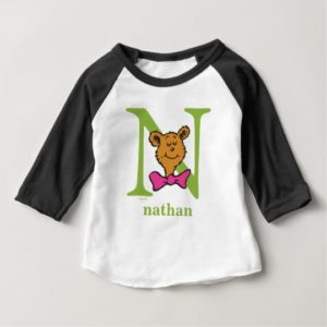 Dr. Seuss's ABC: Letter N - Green | Add Your Name Baby T-Shirt
