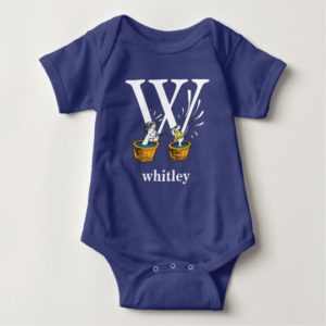 Dr. Seuss's ABC: Letter W - White | Add Your Name Baby Bodysuit