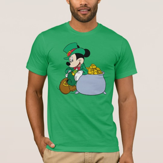 5f74beefe Mickey Mouse Pot of Gold | St. Patrick's Day T-Shirt - Custom Fan Art