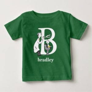 Dr. Seuss's ABC: Letter B - White | Add Your Name Baby T-Shirt
