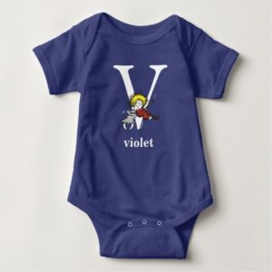 Dr. Seuss's ABC: Letter V - White | Add Your Name Baby Bodysuit